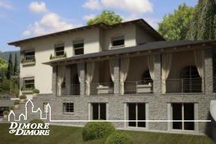 Villa a Baveno con depandance, parco e piscina, stupenda vista lago