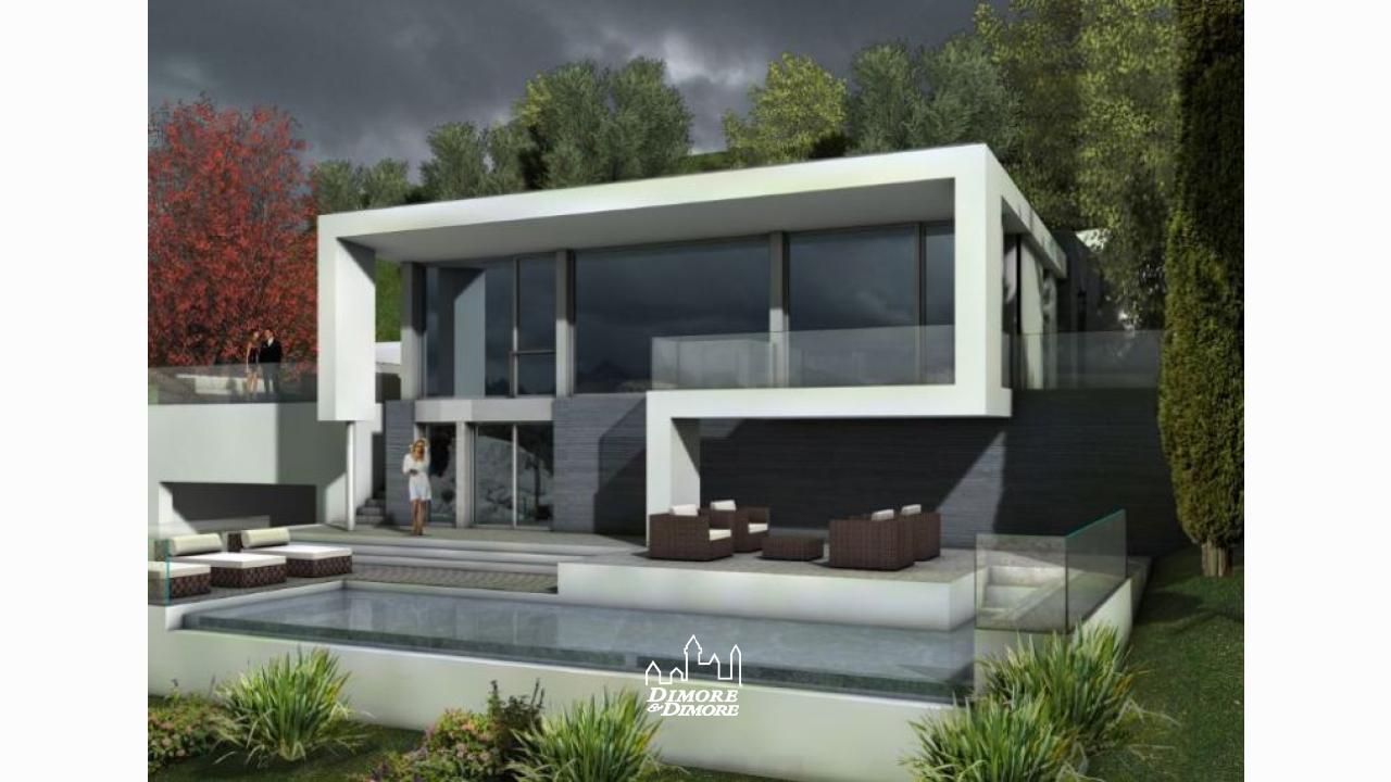 Lussuosa villa di design vista lago maggiore dimore for Case moderne in vendita in nj
