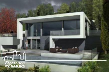 Luxusvilla Design-Ansicht des Lago Maggiore