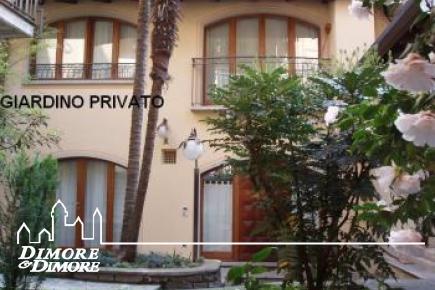 Apartamento con jardín de cien metros de la renta lago estacional en Stresa